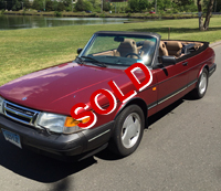 Beautiful 1993 Saab 900 Turbo Convertible - Car has every option available for that year including the factory convertible parade boot along with original