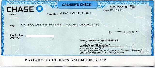 Cashier S Check When Buying A Car